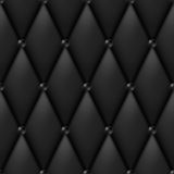 Black Luxury Leather. Upholstery seamless pattern Royalty Free Stock Photos