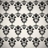 Black luxury ornamental floral wallpaper Royalty Free Stock Image