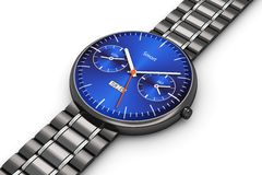 Black luxury smart watch Stock Photo