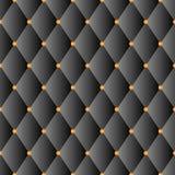 Black luxury sofa diamond pattern Stock Images