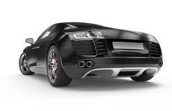Black luxury sport car Royalty Free Stock Photos