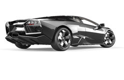 Black luxury sport car Royalty Free Stock Image