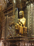 The Black Madonna in the Montserrat Monastery Royalty Free Stock Images