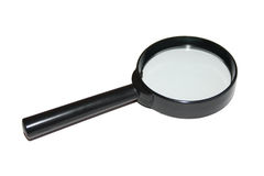 Black magnifier Stock Photo