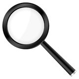 Black magnifier Royalty Free Stock Photo
