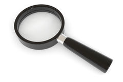 Black magnifying glass. Stock Photo