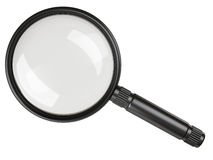 Black magnifying glass. On white background Royalty Free Stock Image