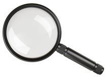 Black magnifying glass. On white background royalty free illustration