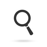 Black magnifying glass Royalty Free Stock Image
