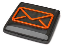 Black mail icon. 3d illustration of black mail icon Stock Image