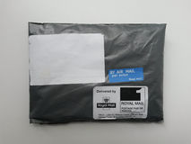 Black mail parcel in London Royalty Free Stock Photos