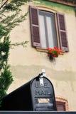Black mailbox Stock Photography