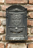Black mailbox Royalty Free Stock Photo