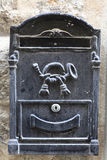 Black mailbox for letters Royalty Free Stock Photos