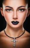 Black make-up Royalty Free Stock Images