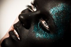 Black makeup Royalty Free Stock Photography