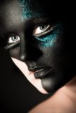 Black makeup Royalty Free Stock Image