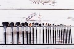 Black makeup brushes. Stock Photography
