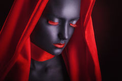 Black makeup Royalty Free Stock Photo