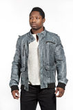 Black Male in Casual Lifestyle Outfit Royalty Free Stock Images