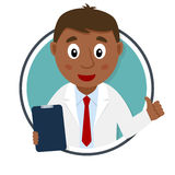 Black Male Doctor Character Portrait Royalty Free Stock Photo