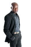 Black male with elegant costume isolated royalty free stock photo