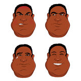 Black male expressions Stock Photography