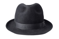 Black male felt hat isolated on white Stock Image