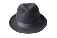 Black male felt hat isolated on white Royalty Free Stock Images