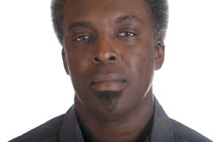 Black male headshot. Head shot of african american man Stock Images