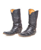 Black male high leather boots Royalty Free Stock Photography