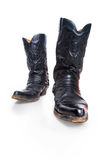Black male high leather boots Stock Photography