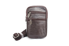 Black male leather bag Stock Images