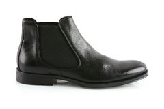 Black male leather shoe Stock Images