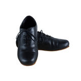 Black male leather shoes isolated on white background Royalty Free Stock Photos