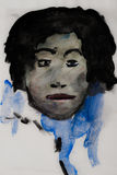 Water Color Painting of a Black Male Royalty Free Stock Images