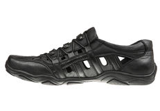 Black male shoe Royalty Free Stock Photos