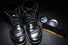 Black male shoes Royalty Free Stock Photo