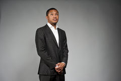 Black Male In A Suit Royalty Free Stock Images