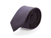 Black male tie. ( necktie ) on white royalty free stock photo