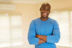 Black man arms folded Royalty Free Stock Images
