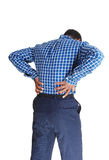 Black man with backache. Royalty Free Stock Photo