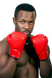 Black Man Boxer Stock Photography