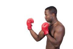 Black Man Boxer Stock Photo