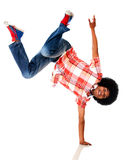 Black man breakdancing Stock Images
