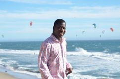 Black man at the California Coast Stock Photos