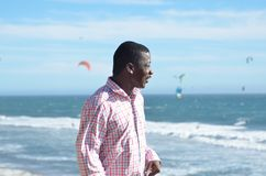 Black man at the California Coast Royalty Free Stock Images