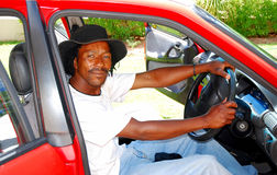 Black man in car Royalty Free Stock Photos