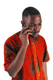Black man on cell phone. Stock Images