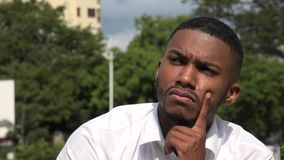 Black Man And Confusion. A young handsome black male stock video
